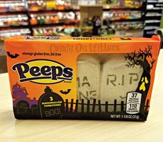 Halloween Peeps Candy - 3 Tombstones Marshmallow Candies  Holiday Party Favors   #Peeps