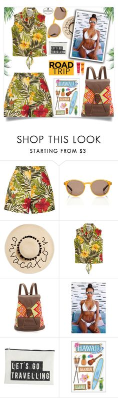 """""""Take me to Hawaii !!"""" by samra-bv ❤ liked on Polyvore featuring Miguelina, August Hat, House Doctor, bikini, summerstyle, hawaii, roadtrip and summervibes"""
