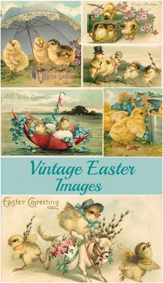 Free vintage Easter images, including ideas on how to use these printable graphics in your spring home decor and craft projects. images for kids Vintage Easter Images: Adorable Free Printables Easter Art, Easter Crafts, Easter Decor, Easter Images Free, Free Images, Arts And Crafts For Adults, Illustration Blume, Diy Ostern, Vintage Holiday