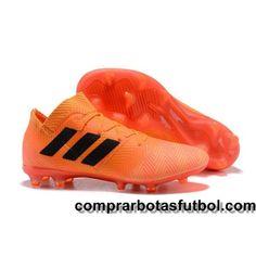 new product 11b34 b1670 Botas De Futbol Adidas Nemeziz 18.1 FG Naranja Negro Venta