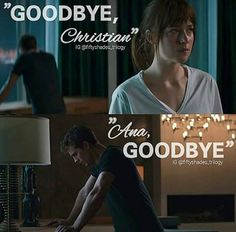 Goodbye :( / Fifty Shades Of Grey / movie / Christian Grey / Jamie Dornan / Mr.Grey / Dakota Johnson / Anastasia Steele