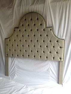 b1435559d96d4 This listing is for a custom upholstered headboard     This gorgeous  headboard is one of our most popular headboard shapes. This one has sold