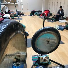 Taking time to slow down - recent gong and yoga intensive at www.yogapoint.co.uk