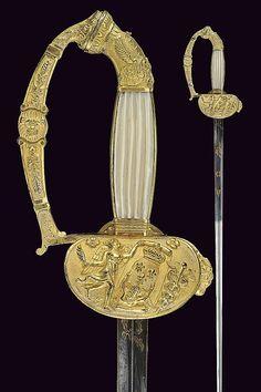Espada de oficial. Francia. s. XIX. Longitud 83,7 cm.