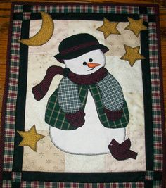 Snowman Wallhanging Quilt by SmartArtbySusie on Etsy