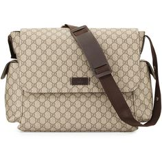 82a5cb564054 Gucci Guccissima Faux-Leather Diaper Bag w/ Changing Pad ($1,150) ❤ liked