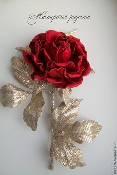 Брошь-роза в стиле D&G - ярко-красный,роза-брошь,брошь-роза,кожаная брошь Leather Flowers, Christmas Wreaths, Chiffon, Brooch, Diy Crafts, Holiday Decor, Inspiration, Jewelry, Jelly Beans