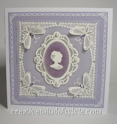 Cameo card in style of parchmant craft