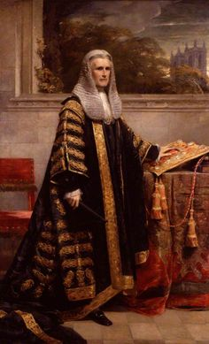 Portrait of William Page Wood, Baron Hatherley, 1872 by George Richmond (British who served as a Liberal Lord Chancellor in Gladstone's first ministry. Basic Painting, Canterbury Tales, Art Uk, Character Costumes, Art Studies, Baron, Your Paintings, Steampunk Fashion, Lord