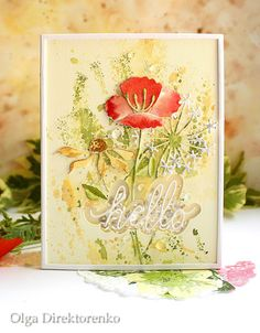 Building Your World: Summer Hello Memory Box Cards, Poppy Cards, Penny Black Stamps, Hand Made Greeting Cards, Handmade Card Making, Diy Christmas Cards, Die Cut Cards, Shaker Cards, Watercolor Cards