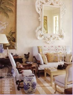 Bunny Williams fabulous living room / sun room
