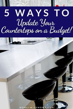 Make your kitchen look new when you update your countertops on a budget! Ideas for kitchen countertops and bathroom counters that save money. Frugal home improvement freshens up your home for less. DIY kitchen home improvement, or hire help. Countertop Paint Kit, New Countertops, Butcher Block Countertops, Home Improvement Cast, Home Improvement Contractors, Update Kitchen Cabinets, Diy Kitchen, Living On A Budget, Lowes Home Improvements