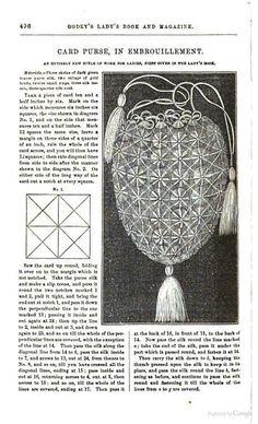 Card purse Godey's Magazine vol. 64- Google Books