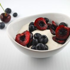 Vanilla Ricotta Cream, a lower carb, low sugar dessert perfect for showcasing summer fruit