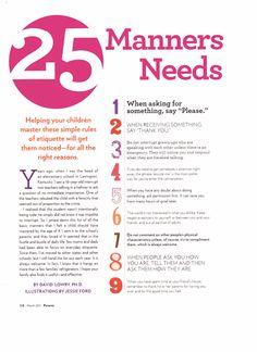 25 manners for kids - behalve nr 6: ik wil graag dat onze kinderen ook negatieve gedachten, ervaringen en gevoelens bij ons kwijt kunnen.
