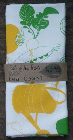 Garden Tea Towel by claudiagpearson on Etsy, $16.00