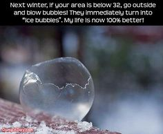 Too bad I live in California now.   I bet kids would love this. I wonder if it would work blowing into the freezer.   Hmmm