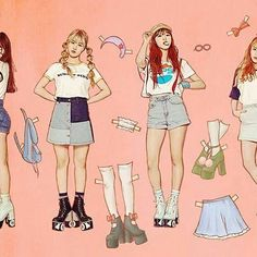 "160328 Paper dolls concept  brings back happy memories of my childhood ❤ Credit wm_ohmygirl -  OH MY GIRL 3rd Mini Album ""LIAR LIAR"" #OMG #OHMYGIRL #WMENT #b1a4sisters"
