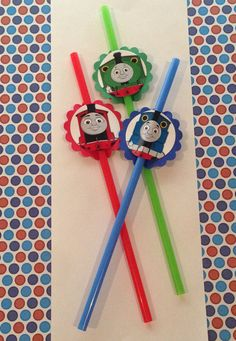 Thomas and Friends  Birthday Party Straws by PartyXtras on Etsy, $4.50