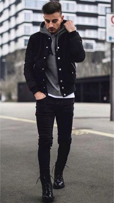 Cool and Trendy Winter Fashion Style Ideas for Men - Mode masculine, formes de style et astuces vestimentaires Mens Fall Street Style, Casual Street Style, Men Street, Street Wear For Men, Street Fashion Men, Mode Masculine, Mode Man, Best Mens Fashion, Men's Fashion