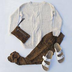 Dreamy winter jumper + Everspirit pant! LOVE this look - shop it here:  www.dreamersanddrifters.com.au