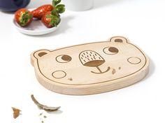 Brettchen - Frühstücksbrett Bär - ein Designerstück von julicadesign bei DaWanda