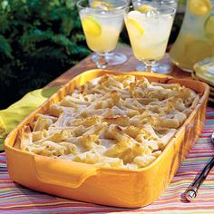 Quick and Easy Dinner Recipes: Three-Cheese Baked Pasta < Italian Pasta Casserole Recipes - Southern Living