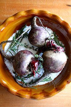 salt-roasted beets