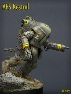 A.F.S. Kestrel. Ma.K.1/20 scale. By Brian Krueger. #Ma_K #Maschinen_Krieger