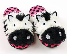 Zebra Critter Slippers: Fun and cozy slippers that will keep your feet toasty warm!