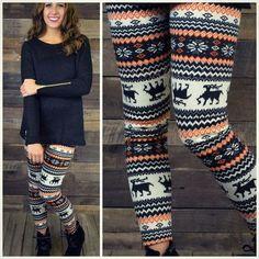 Hallows Eve Fleece Winter Print Sweater Leggings - One Winter Leggings, Cute Leggings, Sweaters And Leggings, Print Leggings, Christmas Leggings, Sweater Tights, Patterned Leggings, Christmas Sweaters, Sweater Weather