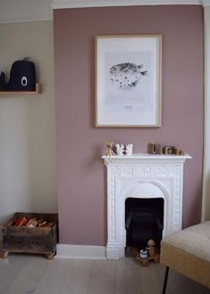 Simple scandinavian childrens bedroom design with natural elements using the new Farrow & Ball paint colours 2018 Farrow And Ball Bedroom, Kids Bedroom Paint, Bedroom Loft, Childrens Bedroom Decor, Childrens Bedrooms Girls, Bedroom Vintage, Deco Design, Spare Room, Bedroom Colors
