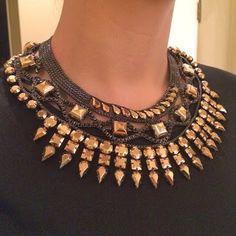 BCBG Necklace #studs #studnecklace #glam