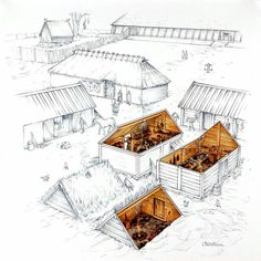 Viking homes and artifacts.