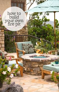 Update your backyard with a DIY fire pit.