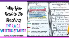 E Writing Strategy has been a lifesaver for my students. This post gives my suggestions for implementation as well as a helpful resource! Races Writing Strategy, Race Writing, Writing Strategies, Teaching Strategies, Writing Practice, Writing Ideas, Teaching 6th Grade, Teaching Kids, Guided Reading Lesson Plans