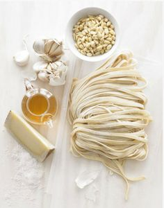 Fresh pasta: 1 egg per person + 100g flour per egg. You can't improve on perfection.