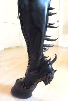 Heelless Hooves for Costume - Custom epic hooves made to order. $900.00, via Etsy.