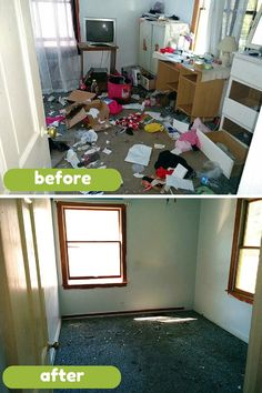 Before and After a Whole House Cleanout Project in Indianapolis #cleaning #organization