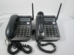 Lot of 2 Panasonic KX-TGA420B   4-Line  Cordled Handset for KX-TG4000B #Panasonic