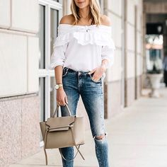 Get on board with all things off the shoulder this season.: @fashion_jackson #Regram via @shopstyle