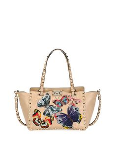 fcfb629303 Rockstud Small Embroidered Tote Bag