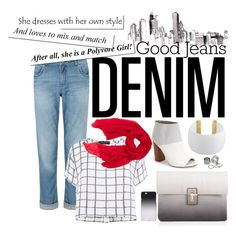 """High-Waisted Jeans"" by reem-hamed ❤ liked on Polyvore featuring mode, Circus By Sam Edelman, Gogo Philip, Jigsaw, Myne, Lipsy, Pieces, Faliero Sarti, C6 et highwaistedjeans"