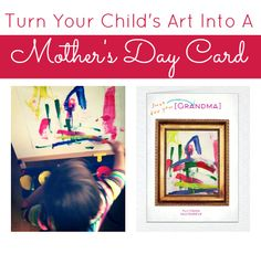 Turn Art Into A Mother's Day Card with Cardstore.com   - Pinned by @PediaStaff – Please Visit  ht.ly/63sNt for all our pediatric therapy pins