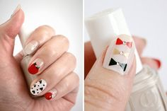 We Heart Nail Art: 20 Valentines Day Manis to Fall For via Brit + Co
