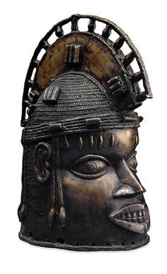 Brass Helmet Mask for the Oduda Ritual    Benin Empire, 18th century    The British Museum