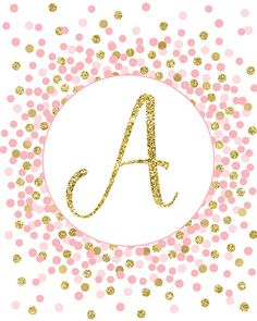 Initial Print Letter A Print Gold Pink Nursery Decor Pink And Gold Initial Sign Printable Baby Girl Marble Wallpaper Phone, Alphabet Wallpaper, Custom Wallpaper, Gold Nursery Decor, Fancy Letters, Gold Letters, Mothers Day Quotes, Cute Wallpapers, Pink And Gold