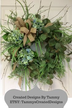 Great wreath to use inside or outside the home to add color.