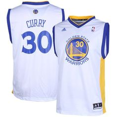 Stephen Curry White Adidas NBA Revolution 30 Replica Golden State Warriors  Youth Jersey   Click image to review more details. 3464aaa39
