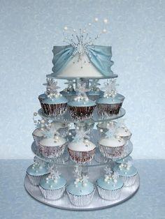 Cupcakes hermosos de Frozen